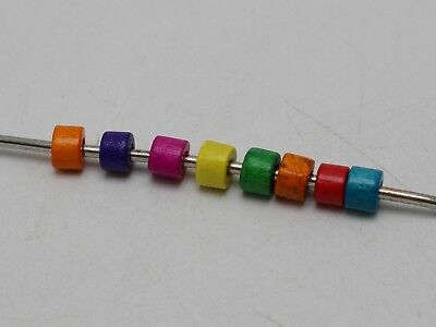 1000 Mixed Color 5X4mm Mini Column Heishi Wood Beads~Wooden Beads