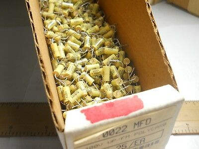 .15 mfd 50 VDC 10/% Poly Fill Wrap Capacitor NOS,New Old Stock QTY 10 ea D72