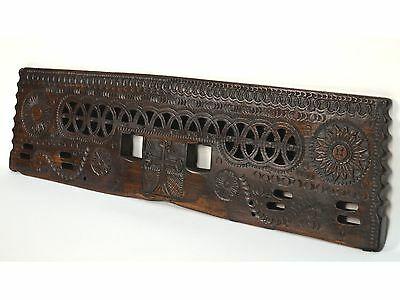 16/17th Century Antique Carved Wood Architectural Decorative Panel 2