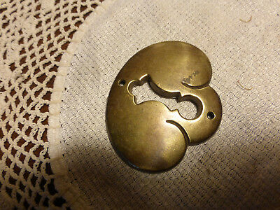 Vintage Solid Brass Key Hole Escutcheon 3/25 J