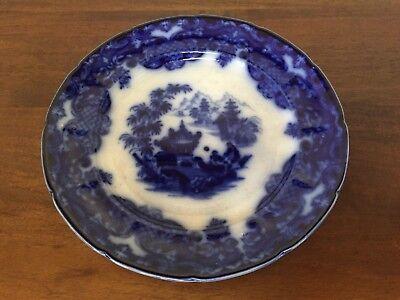 J Mayer FORMOSA FLOW BLUE Dinner Plate /& J Antique Staffordshire T