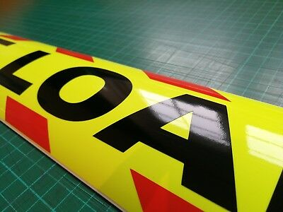WIDE LOAD MAGNET MAGNETIC Lorry Truck Trailer long CHEVRON Towing Volvo DAF x 1 4