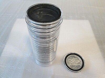 1 Capsule Tube /& 20 38mm Velour Blue Ring Air-Tite Coin Capsule Holders