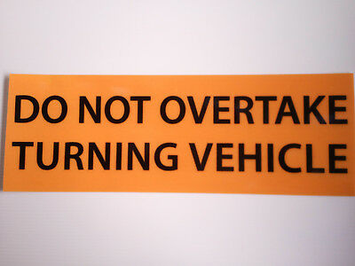 OVERSIZE PVC Banner 1250x450mm Truck Safety Sign Nylon Rope NON REFLECTIVE 9