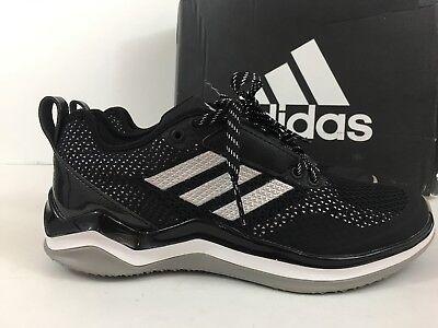 Nuovo Adidas Speed Ginnastica 3.0 Nero/Argento/BIANCO UOMO Scarpe da Baseball 2