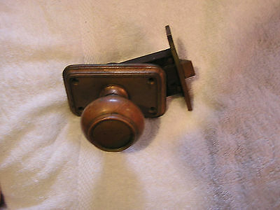 Antique Door Knob, Lock and Face Plate 2