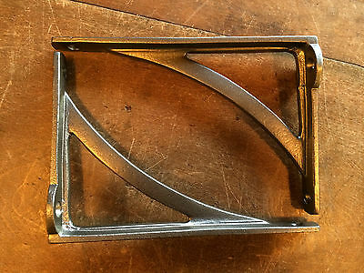"Pair 6"" x 4"" SMALL INDUSTRIAL ANTIQUE CAST VICTORIAN SHELF BRACKETS ~ BR22p(x2) 4"