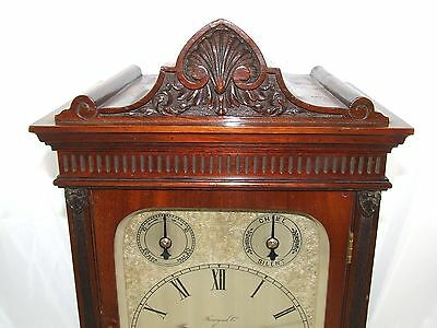 Winterhalder W & H Antique Mahogany TING TANG Bracket Mantel Clock CLEAN SERVICE 5
