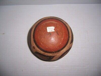 "Pre-Columbian Panama Cocle Pottery Polychrome Olla Jar 5"" x 3 1/4"" 9"