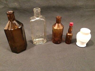 Apothekerflasche, Braunglas, und glas  alt 10