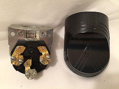 Vintage NOS Arrow Hart Hegeman Bakelite Range Cap 90 angle 3 wire 50A-250V AH&H 2