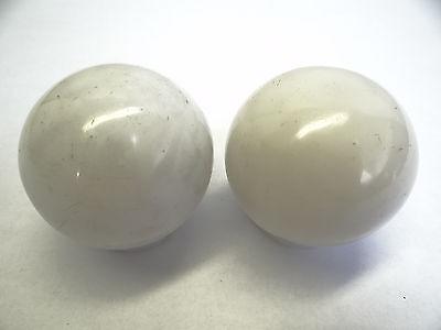 Antique White Glass Architectural Decorative Finial Pieces Balls Accent Parts 3