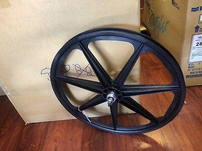 """Skyway Retro Tuff 7-Spoke BMX Wheelset Black 24x1.75 Bolt-On 3//8/"""" Axle FW Hub"""