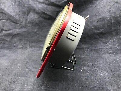 Antique Pendulum Kitchen Ffr Mechanical, Black and Red Vintage Formica 3