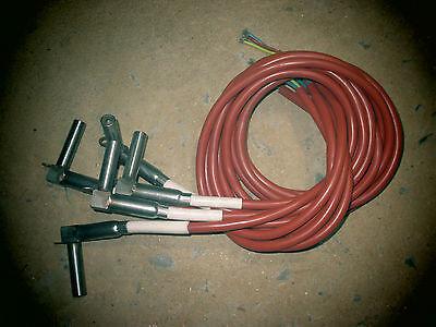 (5) Turk + Hillinger type HLP cartridge heater 220VAC 100W 3 ft.leads T+H 2