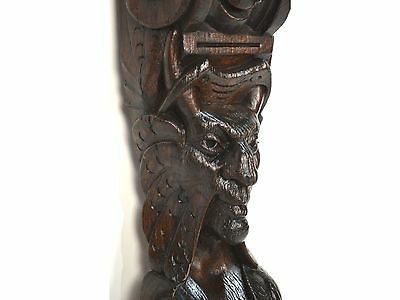 17th Century Antique Carved Wood Architectural Salvaged Figural Molding 11