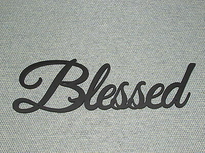 BLESSED WOOD WALL Word Art Decor - $13.95 | PicClick