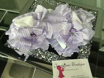 💝School 🎀 Bow Gingham Check School ankle white Socks Jazziejems Boutique ❤️ 8