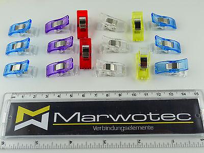 10 - 200 Stück Wonder Clips Nähklammern Stoffklammern Nähzubehör Wonderclips 2
