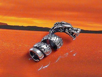 Bartgummis SET Bartcreole Bartperle Bartschmuck 925 Silber Drachenkralle D5,5mm