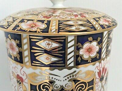 Rare Royal Crown Derby 2451 Or Traditional Imari Condiment Jar - Date Code 1917 4