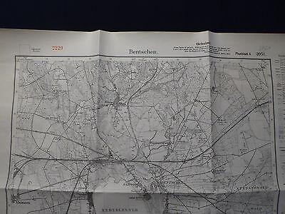 Landkarte Meßtischblatt 3761 Bentschen / Micdzyrzecz, Grenzmark Westpreußen 1933