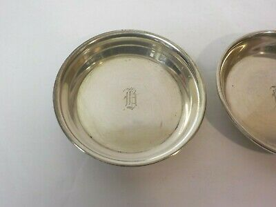 "Pair Sterling Silver Butter Pats, Monogram ""R"" 2"