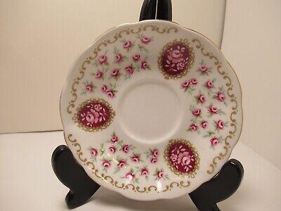 "Royal Albert English China Cup&Saucer ""Cameo Series Keepsake"" White & Pink 5"