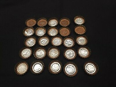 Vintage Lot (25) BEER bottle cap crown Iroquois Duquesne Goebel Carlings 4