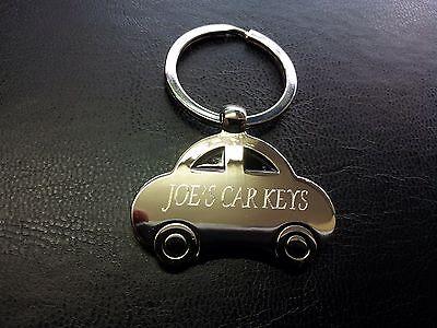 PERSONALISED CAR SHAPED Metal Keyring | Engraved Free | New Car | Car Key  Gift