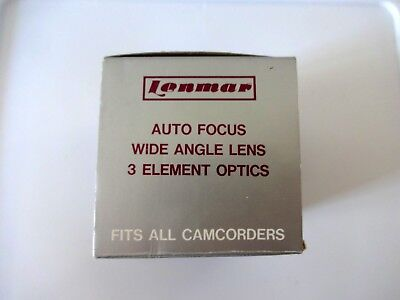 Lenmar Hi-Resolution 0.6X Video Auto Focus Wide Angle Lens 3 Element VWAF60  8