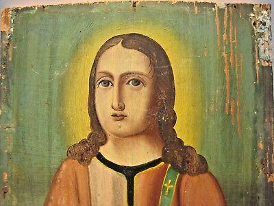19th century Antique Russian Orthodox Icon Christ Pantocrator Russia