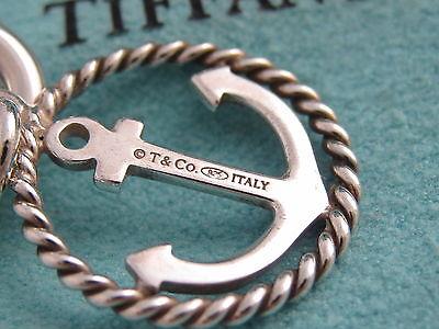 53303c0938771 TIFFANY & CO Silver Anchor Circle Charm Bracelet Bangle!