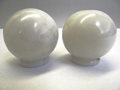 Antique White Glass Architectural Decorative Finial Pieces Balls Accent Parts 2