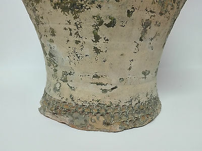 Antiguo Gran Jarron Vasija de ceramica con Argollas, principios de S. XX
