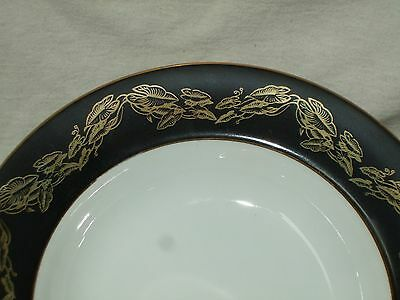 "Set Of 7 Narumi China Occupied Japan ""Golden Night"" Coupe Soup Bowls 3"
