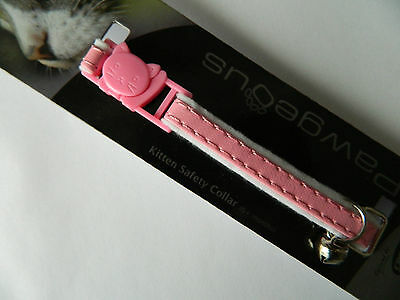 Kitten Collar Armitage Pink Soft Kitten Safety Collar With Release Clip & Bell 2