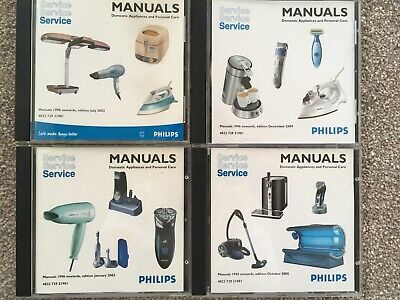 Philips Service Manuals Domestic Appliances & Personal Care CDs 1996 onwards 3