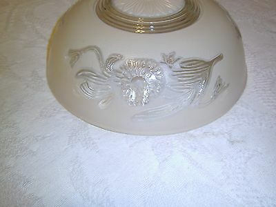 Antique light fixture glass shade Cream or Tan 3 hole mounted type 3