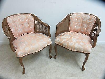 Henredon French Regency Cane Barrel Back lounge living Room Chair A