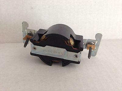NEW OLD STOCK Leviton BLACK BAKELITE 3 Wire Flush Receptacle Mount 30a 250v 6