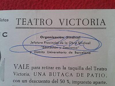 Vale Ticket Entrada Compañía De Revistas Tony Leblanc Teatro Victoria Barcelona 2