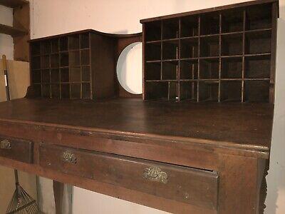 Antique Mail Sorter Post Office Desk 11