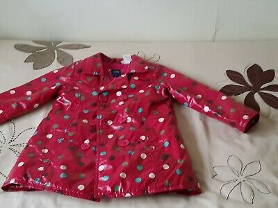 Baby GAP Girl's Red Spotted Raincoat - SIZE 3yrs 10