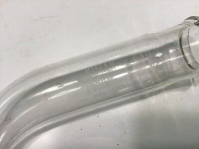 """Lot of 10 Kimax (USA) Bent Tube Adapter 5 3/4"""" tall 1 1/8"""" ID--clean 6"""