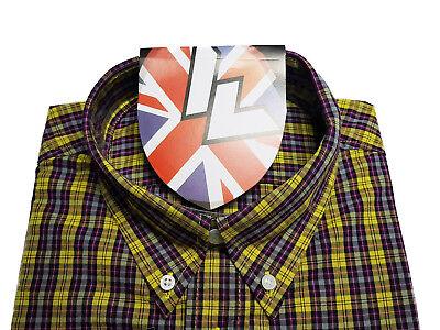 Warrior UK England Button Down Shirt TORCH Slim-Fit Skinhead Mod Retro