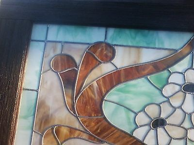 Georgous Stained Glass Window--Framed in Antique Barn Wood 4
