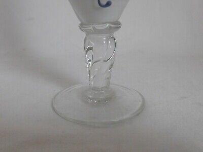 kleiner vase Knospenvase aus Glas Dekor Blumenmuster emailliert Murano ? 2
