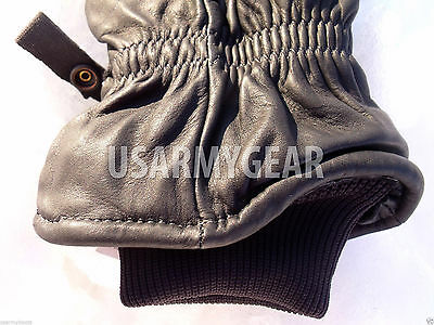 Army Leather Cold Wet Weather ICW Quality Size 3 Gloves XS,S,M Medium Womens Kid 6