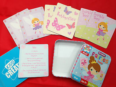 Alphabet Numbers Colourful Snap Flash Card Tin Game Gift Party Bag Filler Age 3+